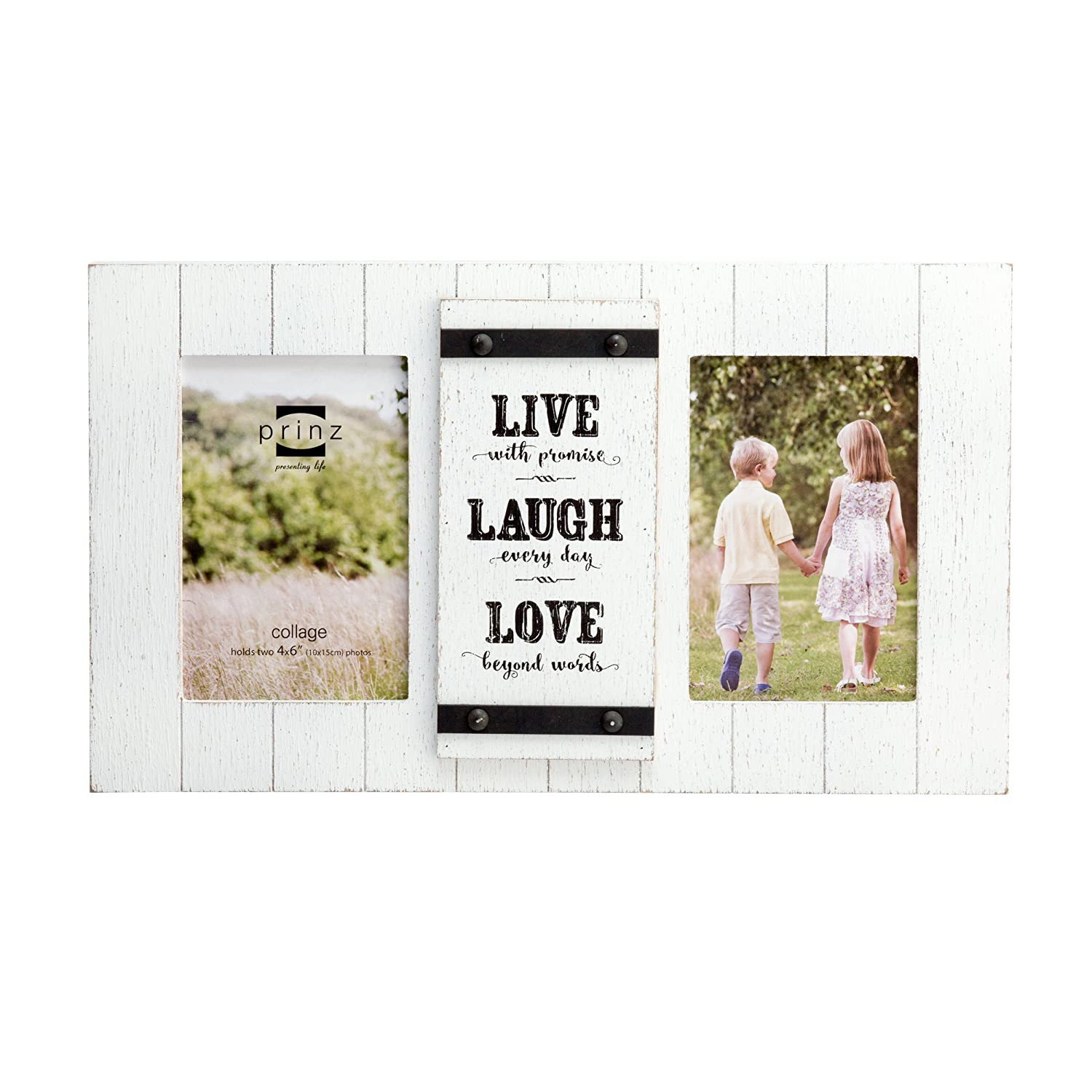 PRINZ 2 apertura Cooper madera Collage marco con \'Live, Love, Laugh ...