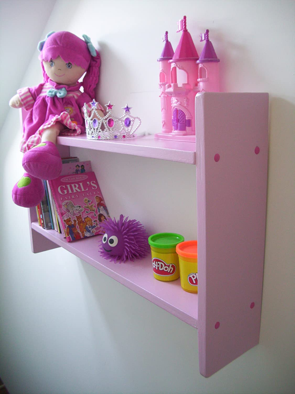 woodiquechic 74cm Wide Girls Pink Shelves, DVD Storage, CD Rack ...