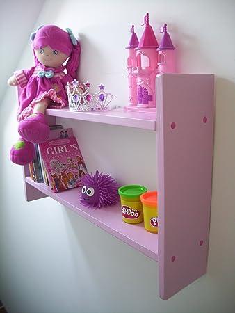 woodiquechic 74cm Wide Girls Pink Shelves DVD Storage CD Rack Girls Bedroom & woodiquechic 74cm Wide Girls Pink Shelves DVD Storage CD Rack ...