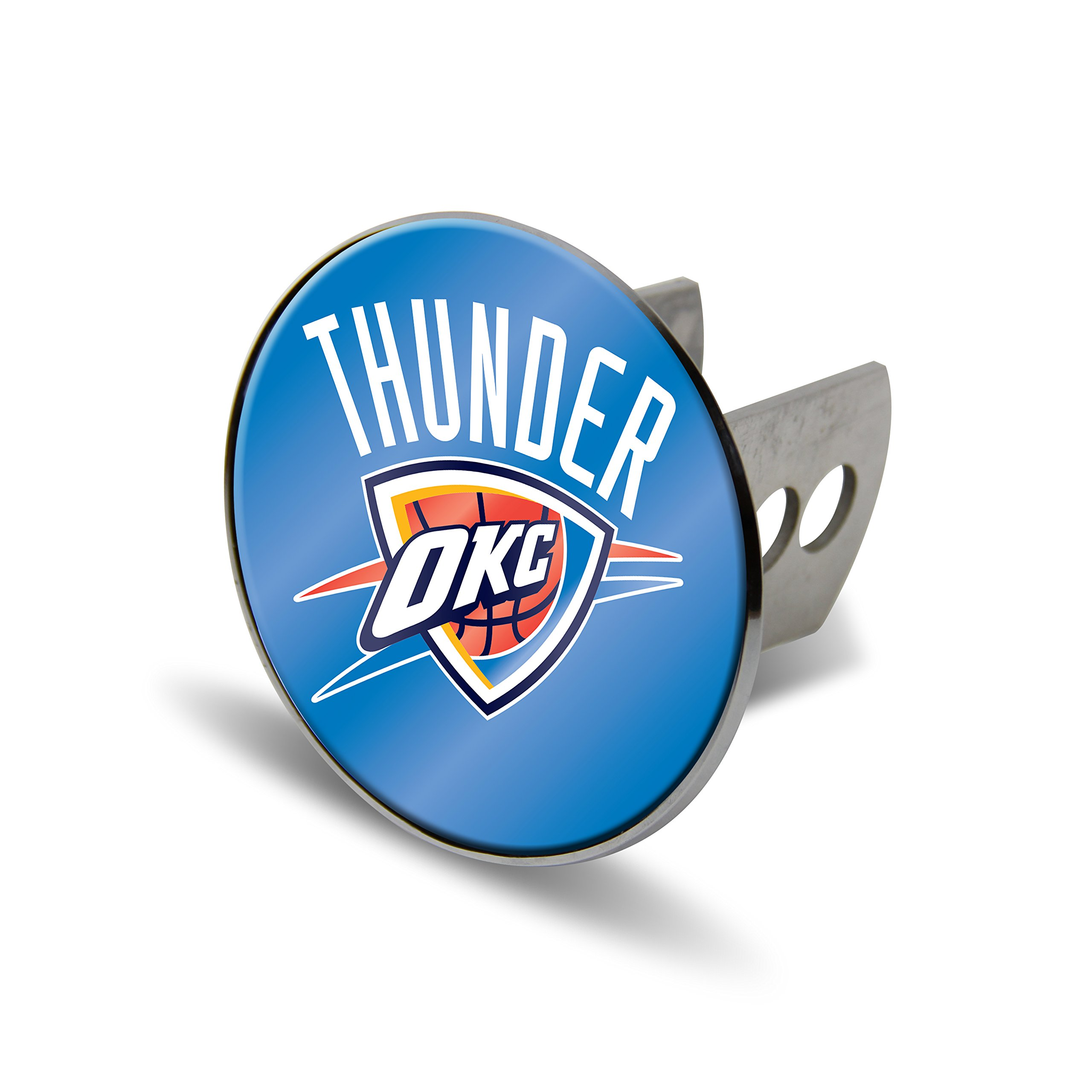 Rico NBA Oklahoma City Thunder Laser Cut Metal Hitch Cover, Large, Silver