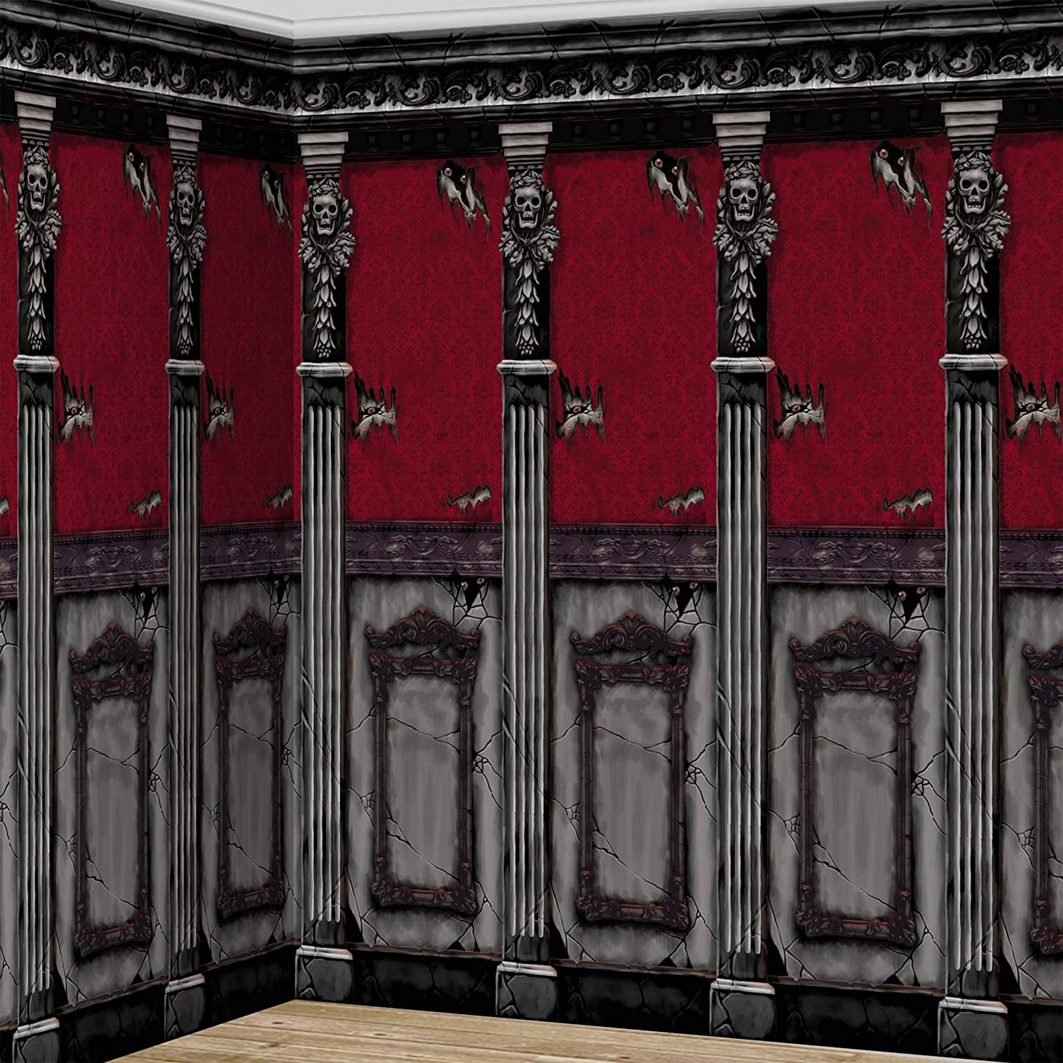 Amscan 676108 Gothic Mansion Room Roll 2 Pcs 48 X 20 Toys Games