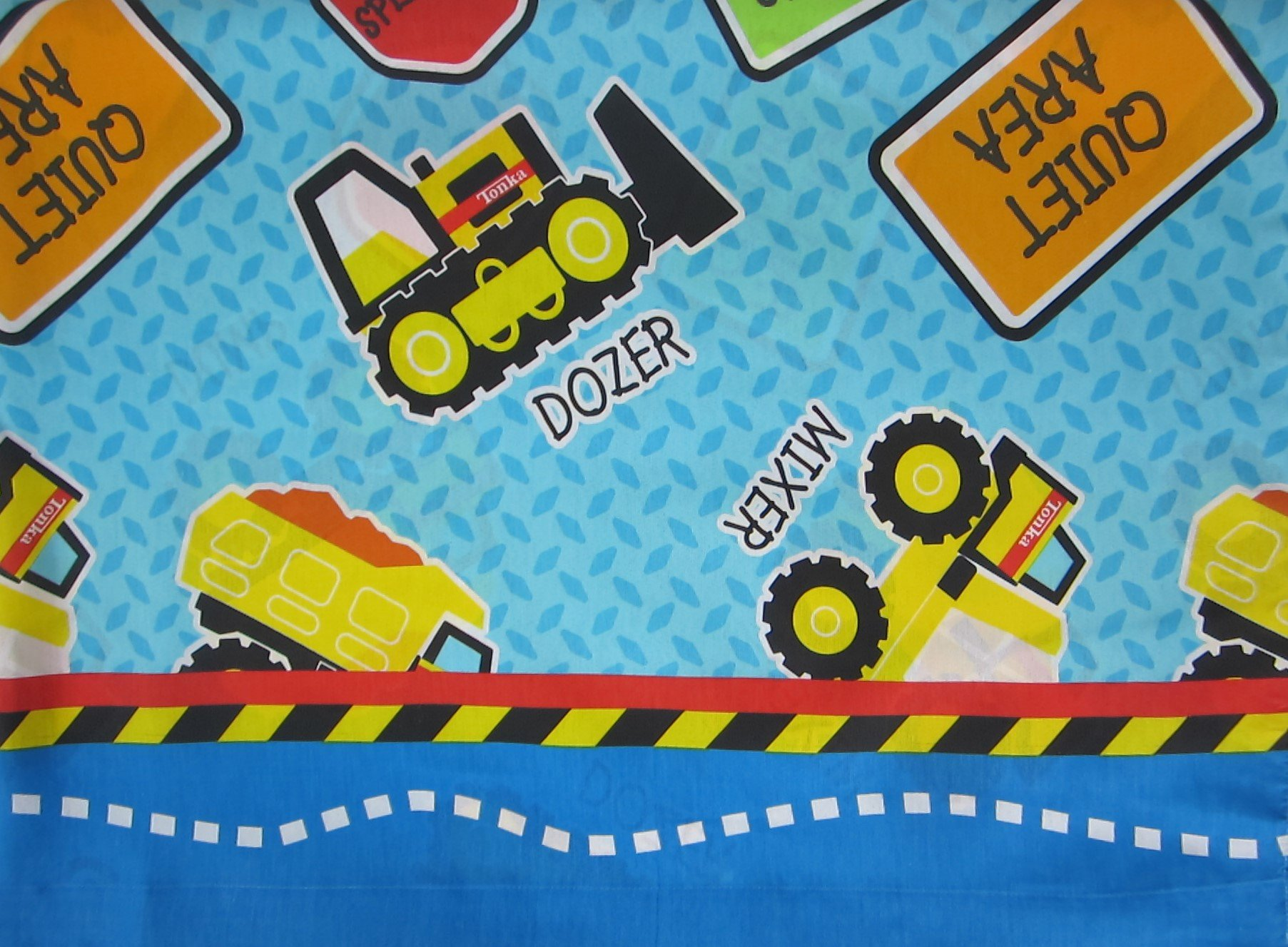 Tonka My Big Tonka Dump Truck 60% Cotton (FLAT SHEET ONLY) Size TWIN Boys Girls Kids Bedding