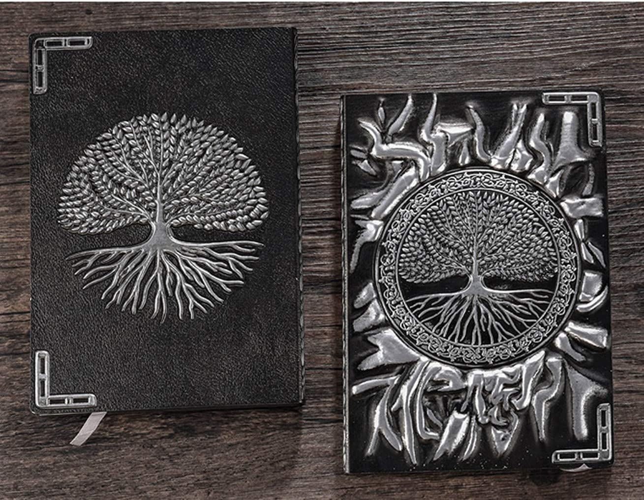 A5 Tree Journal Embossed Journal Diary Notebook Retro Antique Handmade Daily Notepad Sketchbook Silver