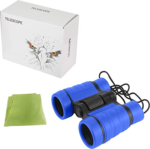 Diswoe Kids Binocular Toy, Binoculars for Children with Adjustable Neck Strap Durable Full-Size Clear Binoculars for Bird Watching Travel Sightseeing Hunting Wildlife Watching Outdoor Sports Games an