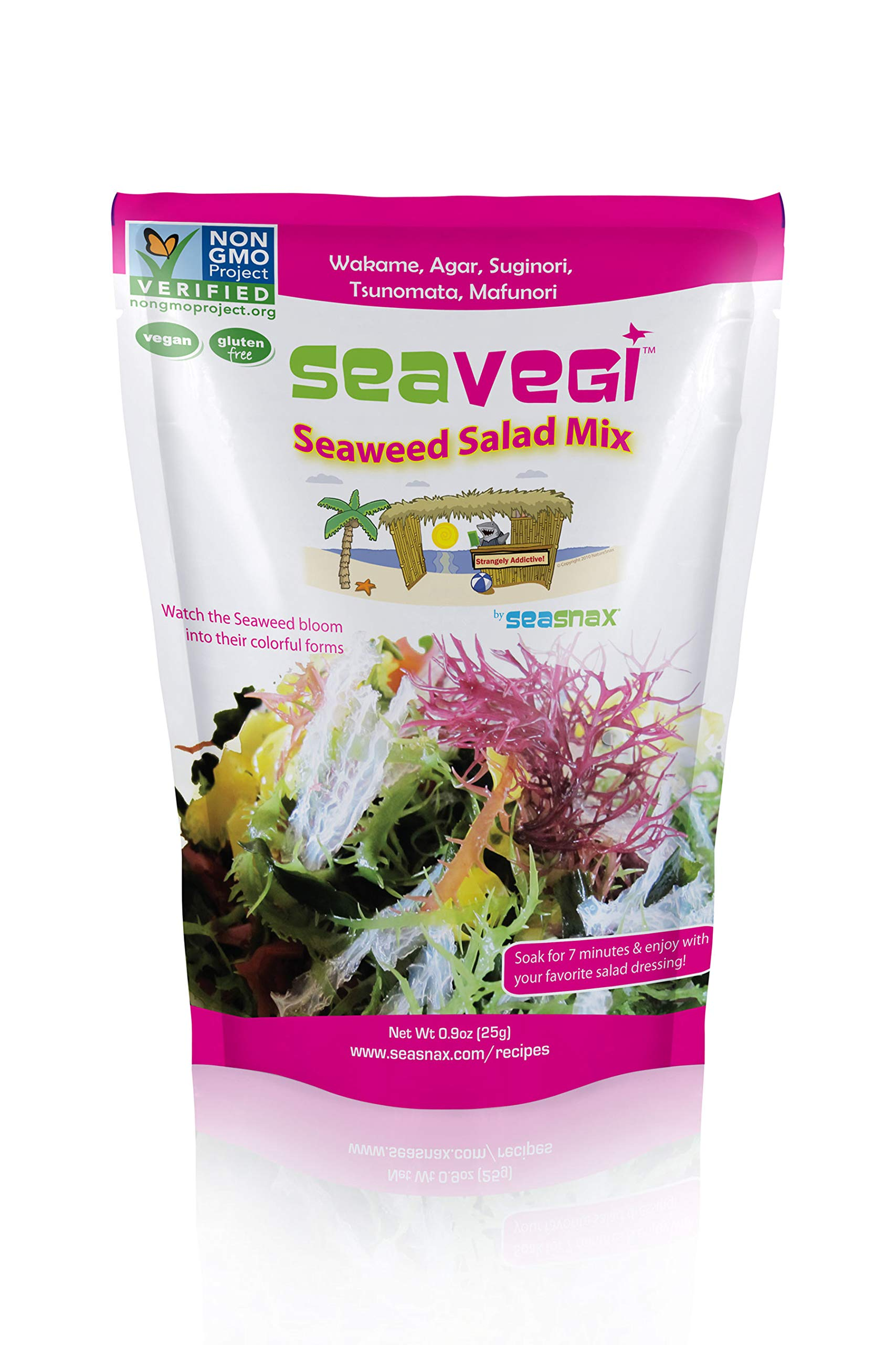 SeaVegi Seaweed Salad Mix, 12 Count by SeaVegi