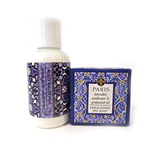 Greenwich Bay Trading Co. Paris (Lavender & Sunflower) Shea Butter Soap and Lotion Gift Set