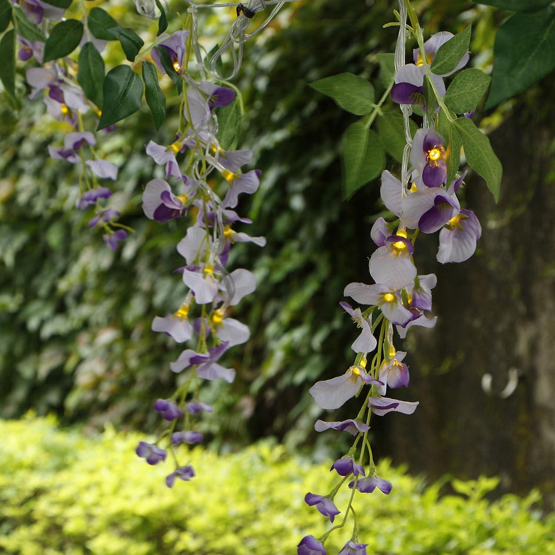 Myhlites - Luces de flores alimentadas por energía solar con ...