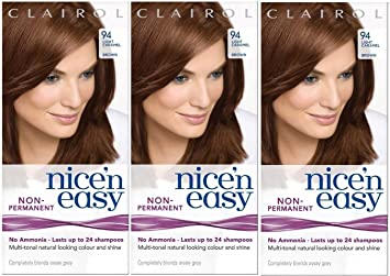 3 X Nice N Einfache Permanent Haar Farbe 94 Light Caramel Braun