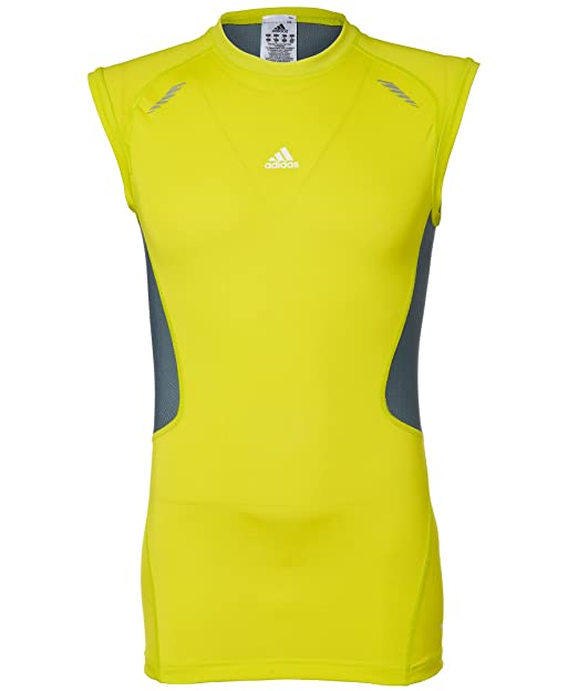 Adidas Techfit - Camiseta para hombre, tamaño L, color lab lime: Amazon.es: Ropa y accesorios