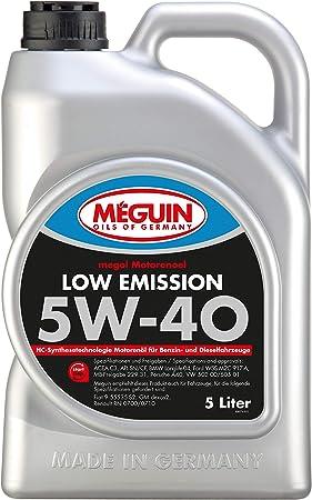 Meguin 6574 Megol Low Emission Sae 5w 40 Engine Oil 5l Auto