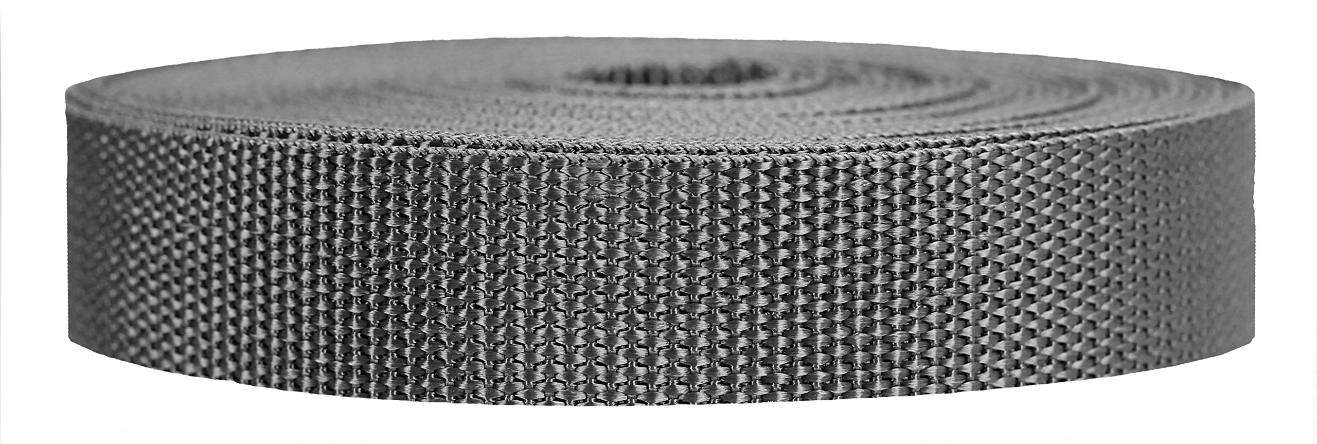 Strapworks Heavyweight Polypropylene Webbing - Heavy Duty Poly Strapping for Outdoor DIY Gear Repair, 1 Inch x 10 Yards - Charcoal