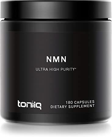 Ultra High Purity Stabilized NMN Capsules - 99%+ Highly Purified and Highly Bioavailable - 300mg - for NAD+ - 180 Capsules NMN Nicotinamide Mononucleotide Booster Supplement