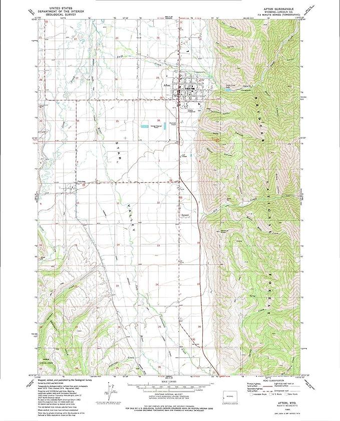 Amazon Com Yellowmaps Afton Wy Topo Map 1 24000 Scale 7 5 X 7 5