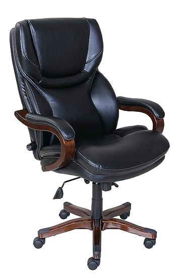 Amazon.com: Serta Bonded Leather Big U0026 Tall Executive Chair, Brainstorm  Black, 46859: Kitchen U0026 Dining
