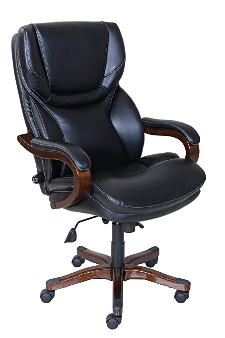 E Serta Executive Office Chair In Black Bonded Leather