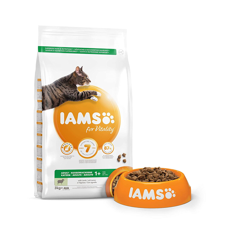 IAMS for Vitality Alimento para Gato Adulto con Cordero [3 kg]