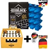 sl-Eisblock Bierkühler 0,5l Flaschen - Eis, Getränkekühler für Den Bierkasten, Kasten Made in Germany inkl. Deutschland Kopfstützenbezug für Das Auto