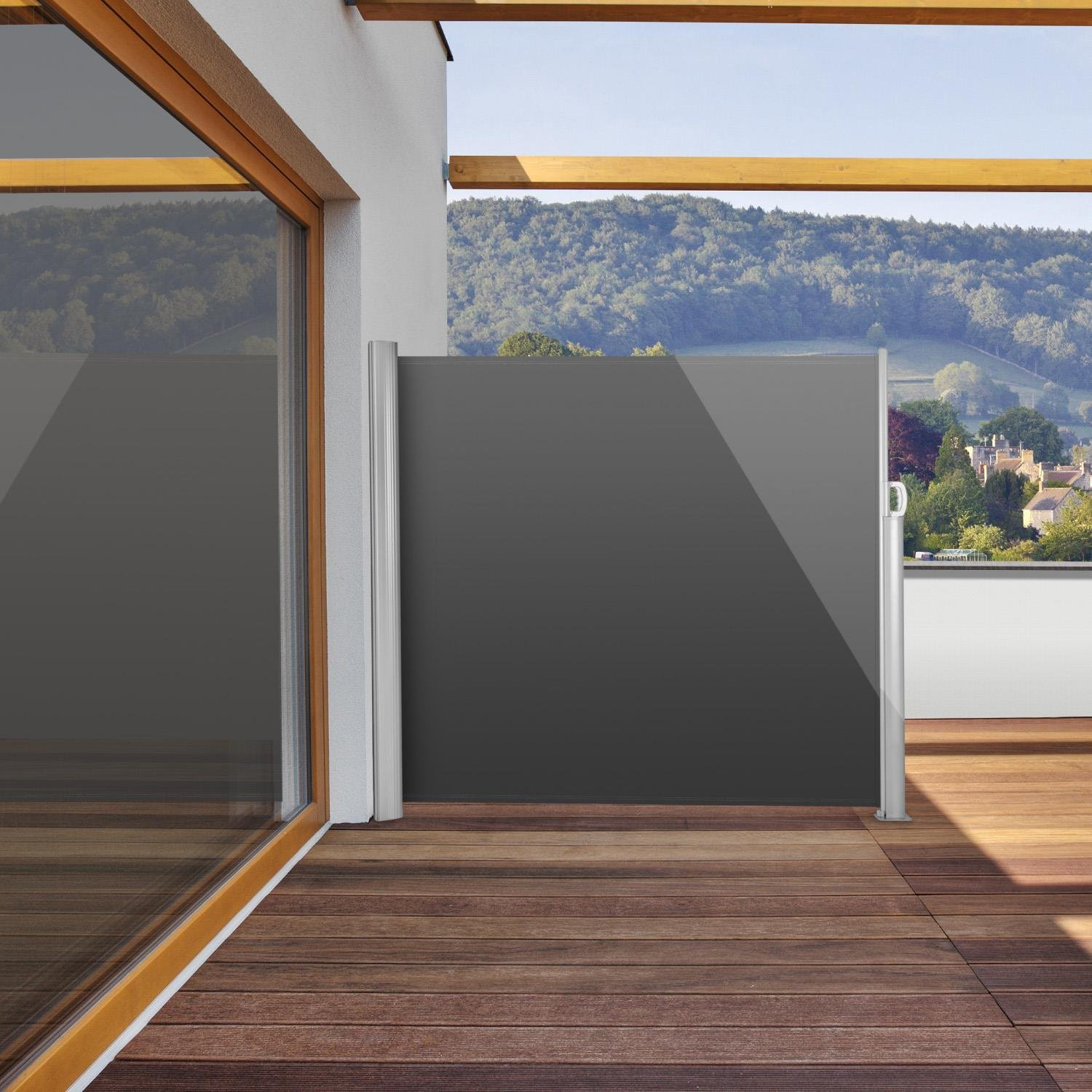 balkon sicht und windschutz vertikaler garten sichtschutz terrasse windschutz garten pinterest. Black Bedroom Furniture Sets. Home Design Ideas