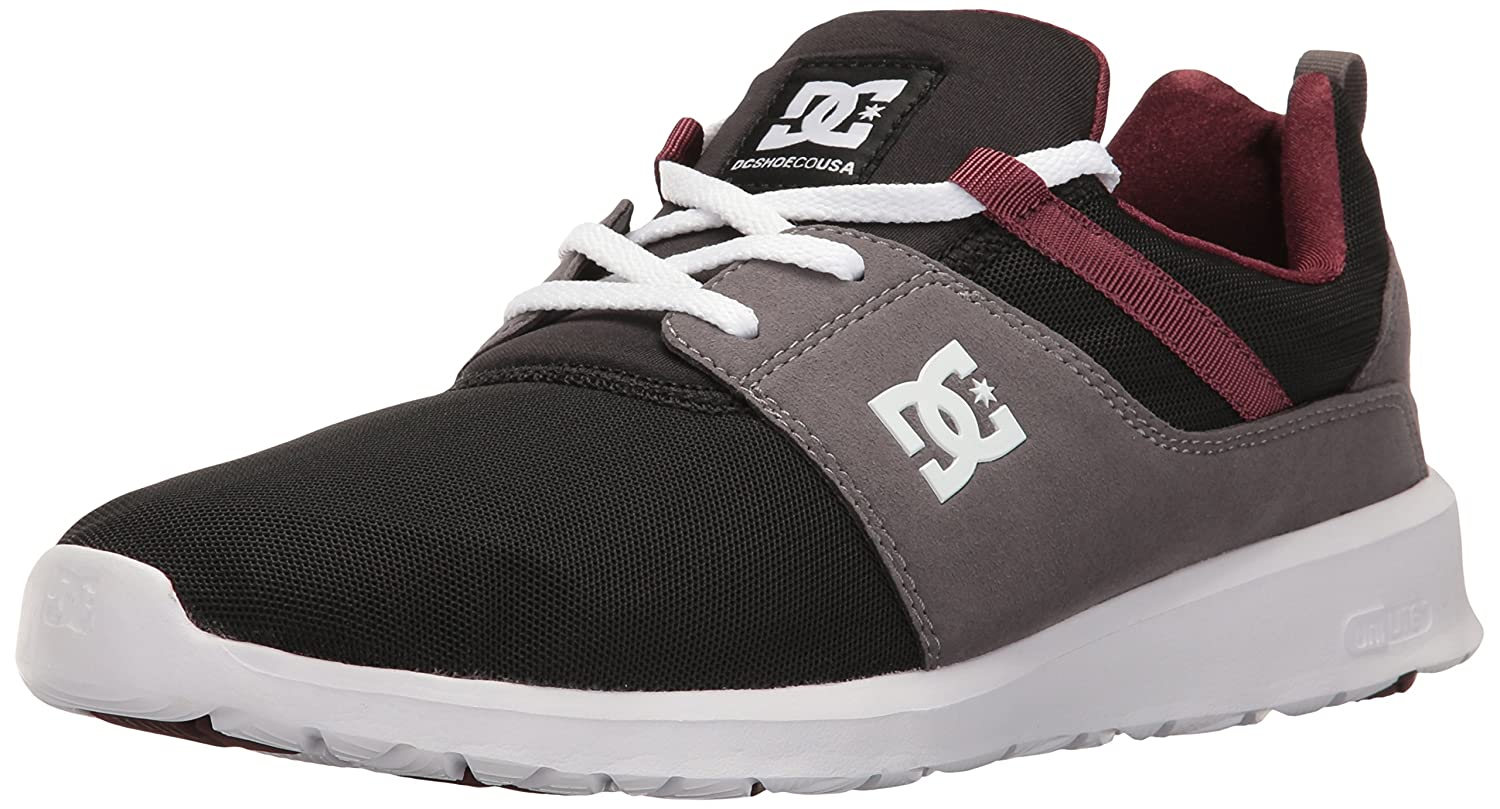 DC Men's Heathrow Casual Skate Shoe B01LAEFKDG 4.5 D(M) US|Armor/Oxblood