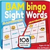 Sight Word Bingo Game - Learn to Read Vocabulary for Preschool Kids Kindergarten First Grade - Family Fun Learning Dolch's Fr