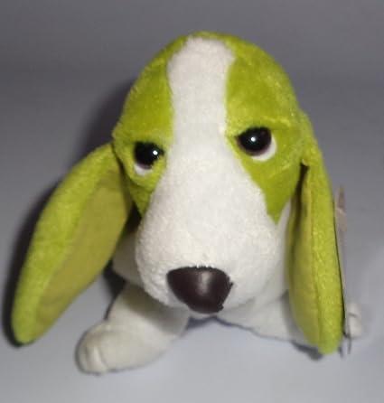 Amazon Com 6 Plush Green White Hush Puppies Puppy Dog Beanie Toy Toys Games