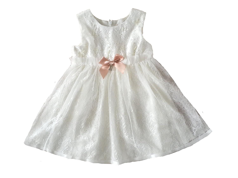 Antonia Taufkleid Festkleid Blumenmädchenkleid Ivory-Weiß