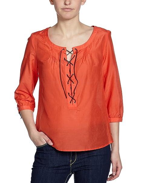 Mexx Blusa con cuello redondo de manga 3/4 para mujer, talla 40, color Rojo 822: Amazon.es: Ropa y accesorios