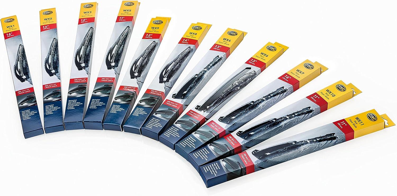 HELLA 9XW 200 526-011 Heckscheibenwischer Wischblatt WX2 14/'/' B/ügelwischblatt 350 mm hinten PKW