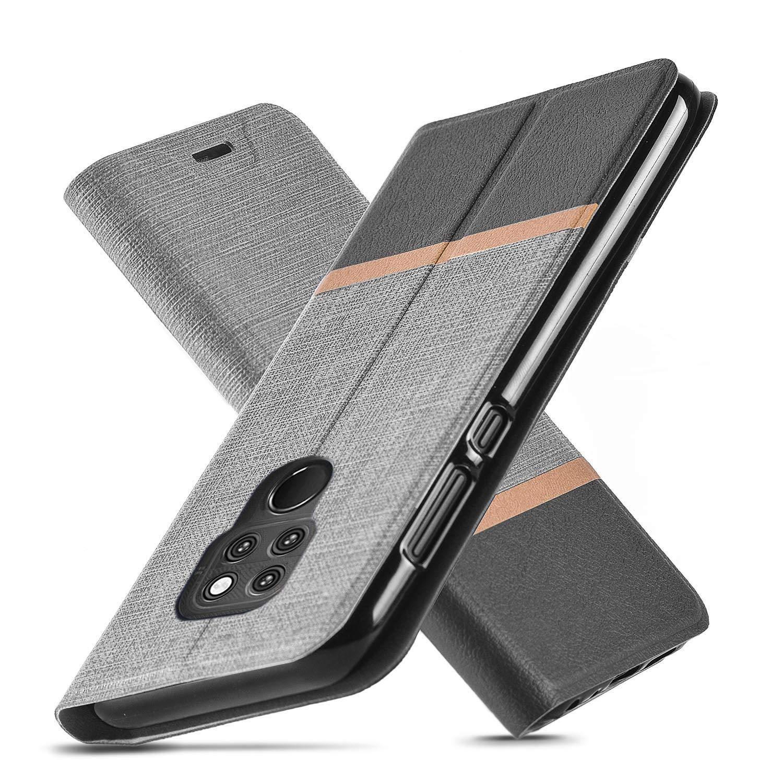 Cover Huawei Mate 20, Ultra Slim fit, Cavalletto, Slot per scheda, TPU, Anti-graffio, Cassa del raccoglitore dell'unità di elaborazione del cuoio di vibrazione per Huawei Mate 20 (Blu)