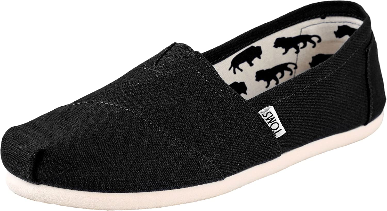 TOMS Womens Classic Slip-Ons Black