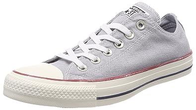 Converse Chuck Taylor CTAS Ox Cotton, Chaussures de Fitness Mixte Adulte, Gris (Wolf Grey/Wolf Grey/White 097), 45 EU