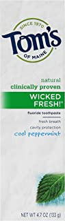 product image for Tom's of Maine Natural Wicked Fresh! Fluoride Toothpaste, Cool Peppermint, 4.7 Ounce