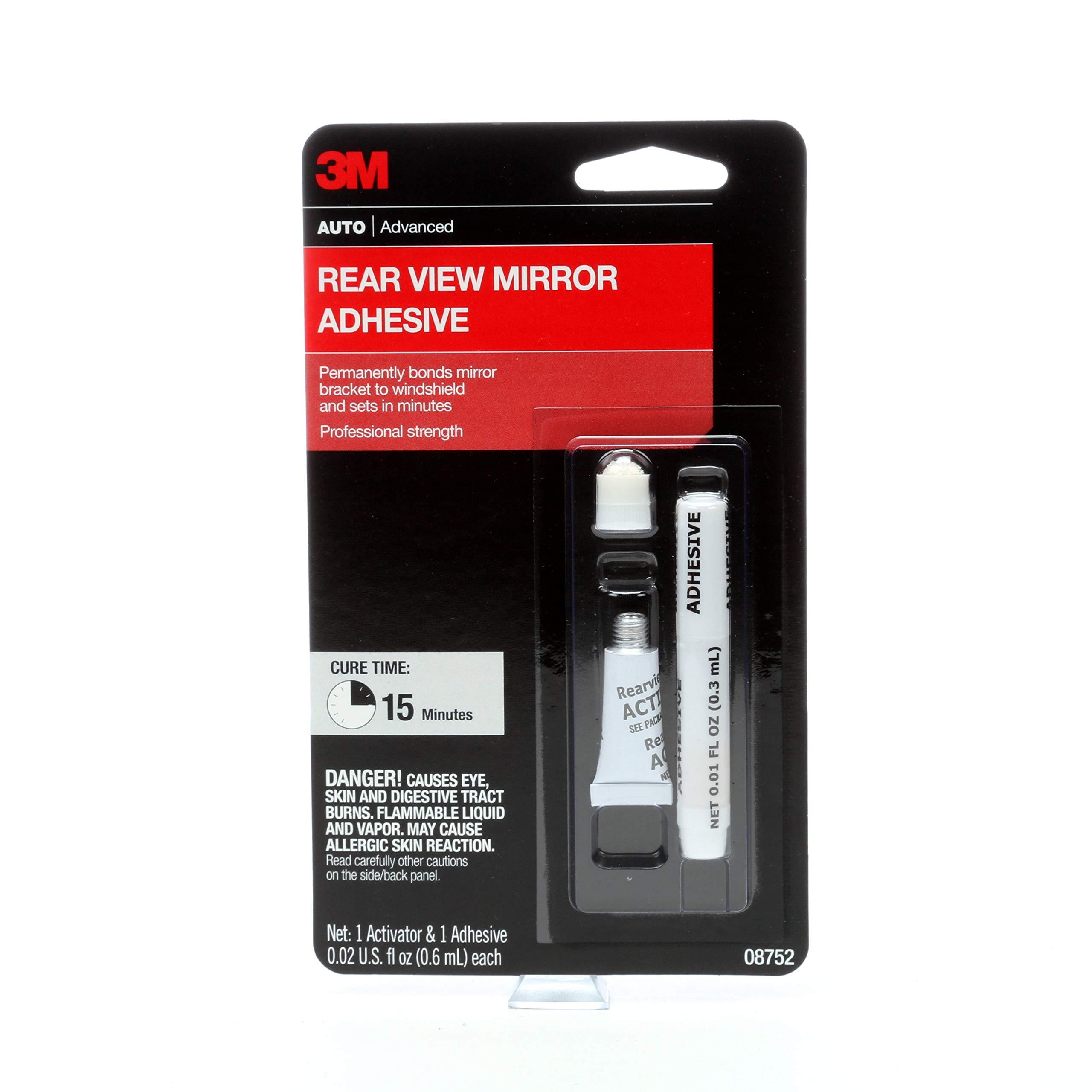 3M Rearview Mirror Adhesive, 08752, 0.02 fl oz