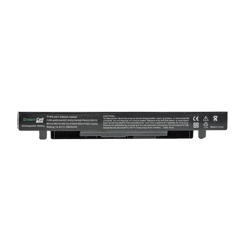 Green Cell® PRO Serie A41-X550A Batería para ASUS R510 R510C ...