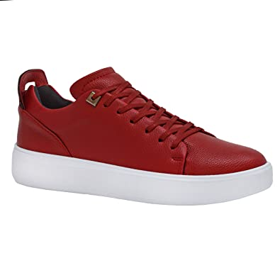 Mens Black Leather Designer Trainers Casual White Smart Formal