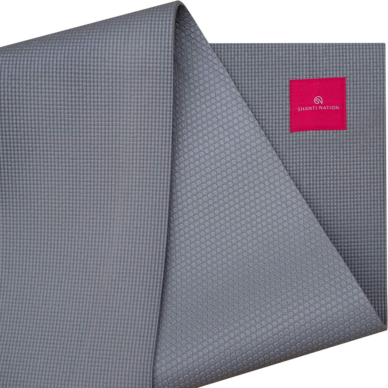 SHANTI NATION - Shanti Mat XXL - Estera para Yoga Extra Grande - 200 * 100 * 0.6 cm - amistosa con el Ambiente - marcación de alineación