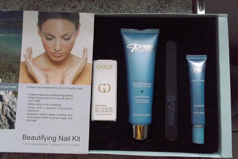 Amazon.com : Premier Dead Sea New Beautifying Nail Kit, Herbal, 4 ...