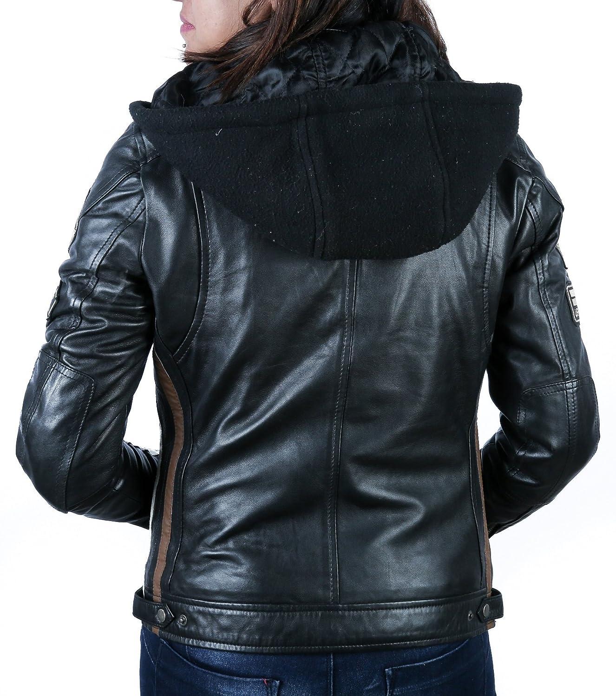 4XL Urban Leather  UR-190 Womens Motorbike Jacket Tan