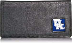 NCAA Michigan State Spartans Leather Checkbook Cover, One Size, Brushed Metal