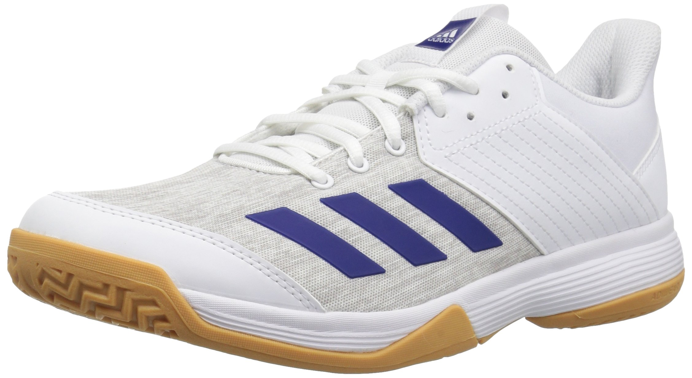 adidas Men's Ligra 6 Volleyball Shoe, White/Mystery Ink/Grey, 6 M US
