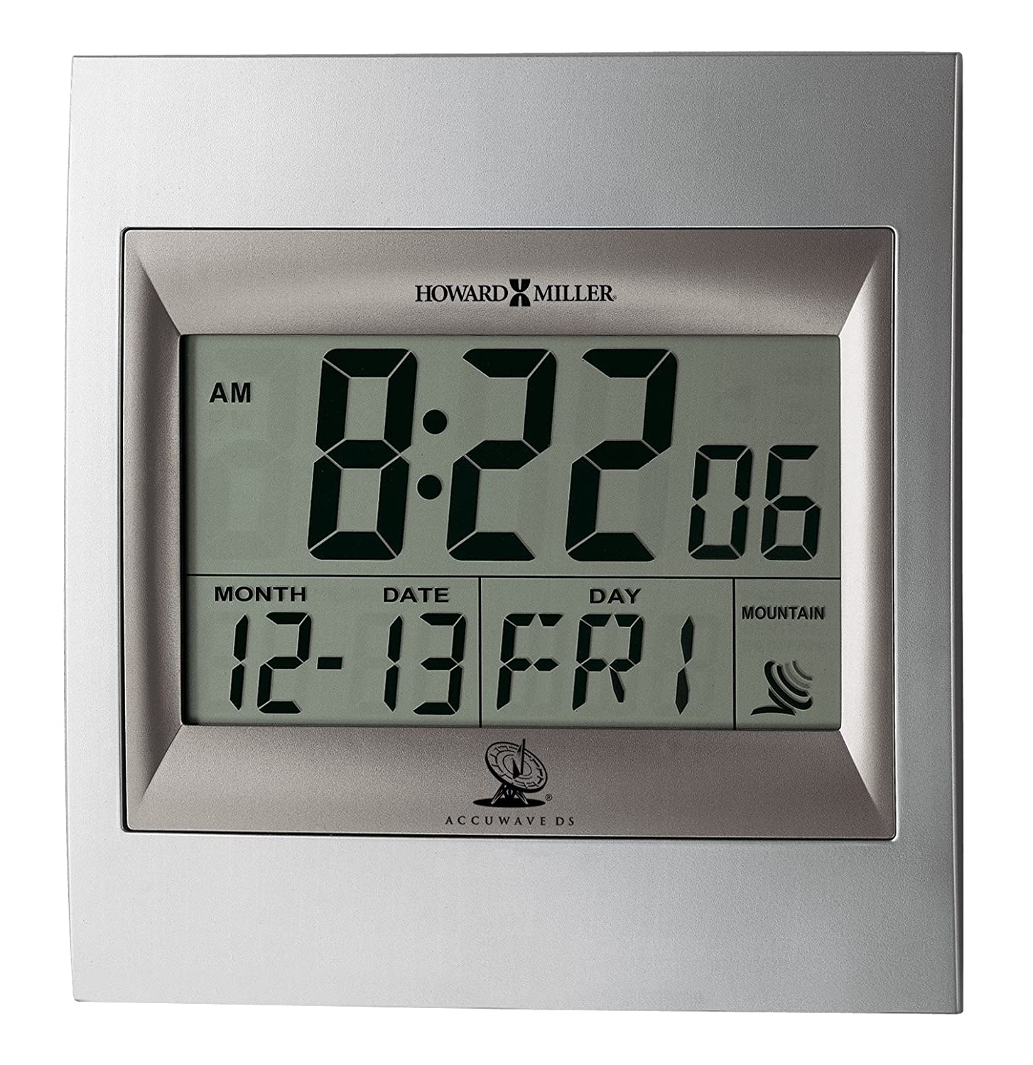 Amazon howard miller 625 236 techtime ii wall clock office amazon howard miller 625 236 techtime ii wall clock office products amipublicfo Image collections