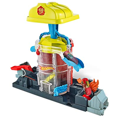 Hot Wheels Super City Fire House Rescue Play Set: Toys & Games