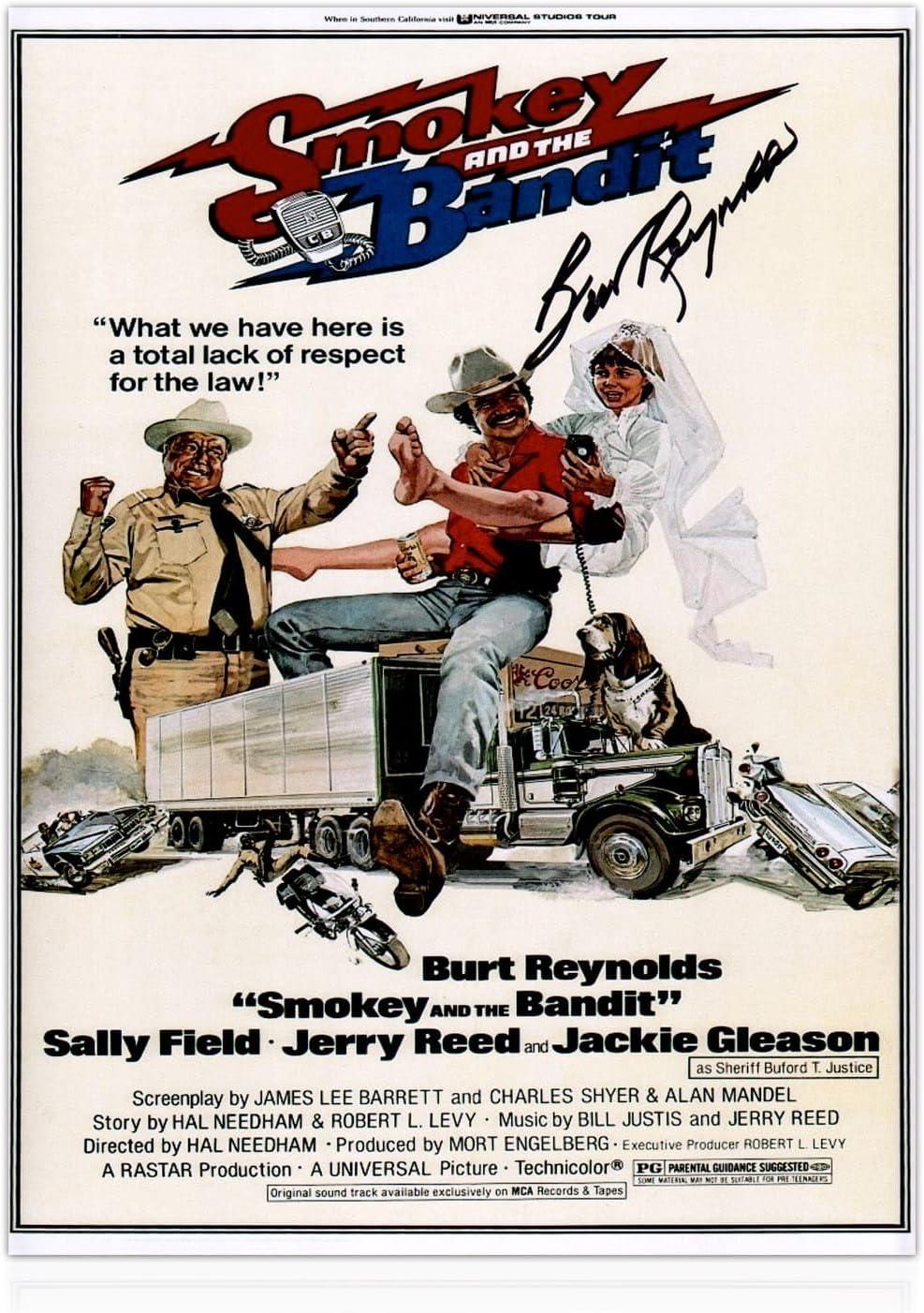 Smokey y el cartel de la película del bandido firmado por Burt ...