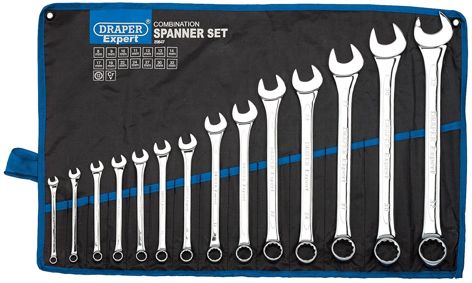 Free Delivery Draper 6 Piece Metric Combination Spanner Set