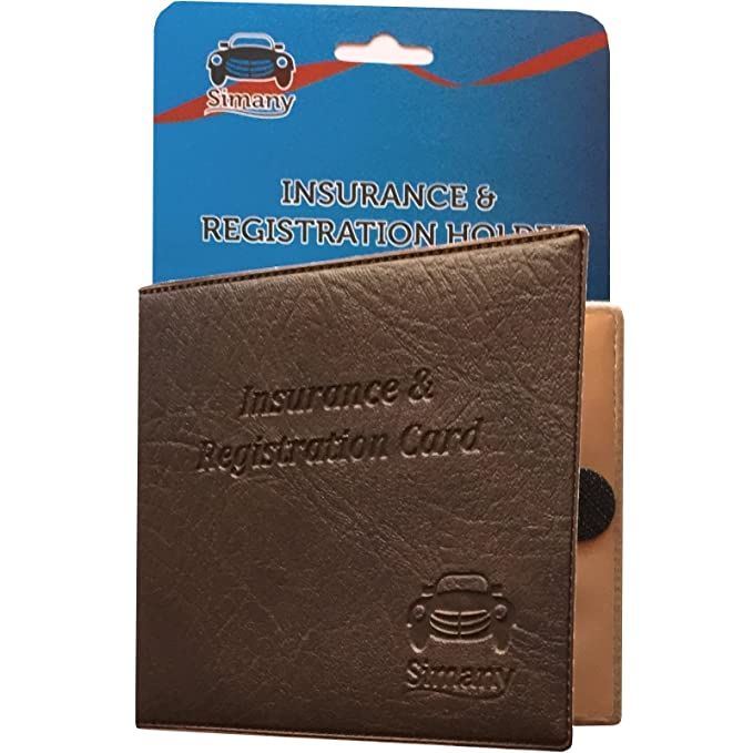 Set Of 6 Red Car Insurance Registration Card Holder Embossed Faux