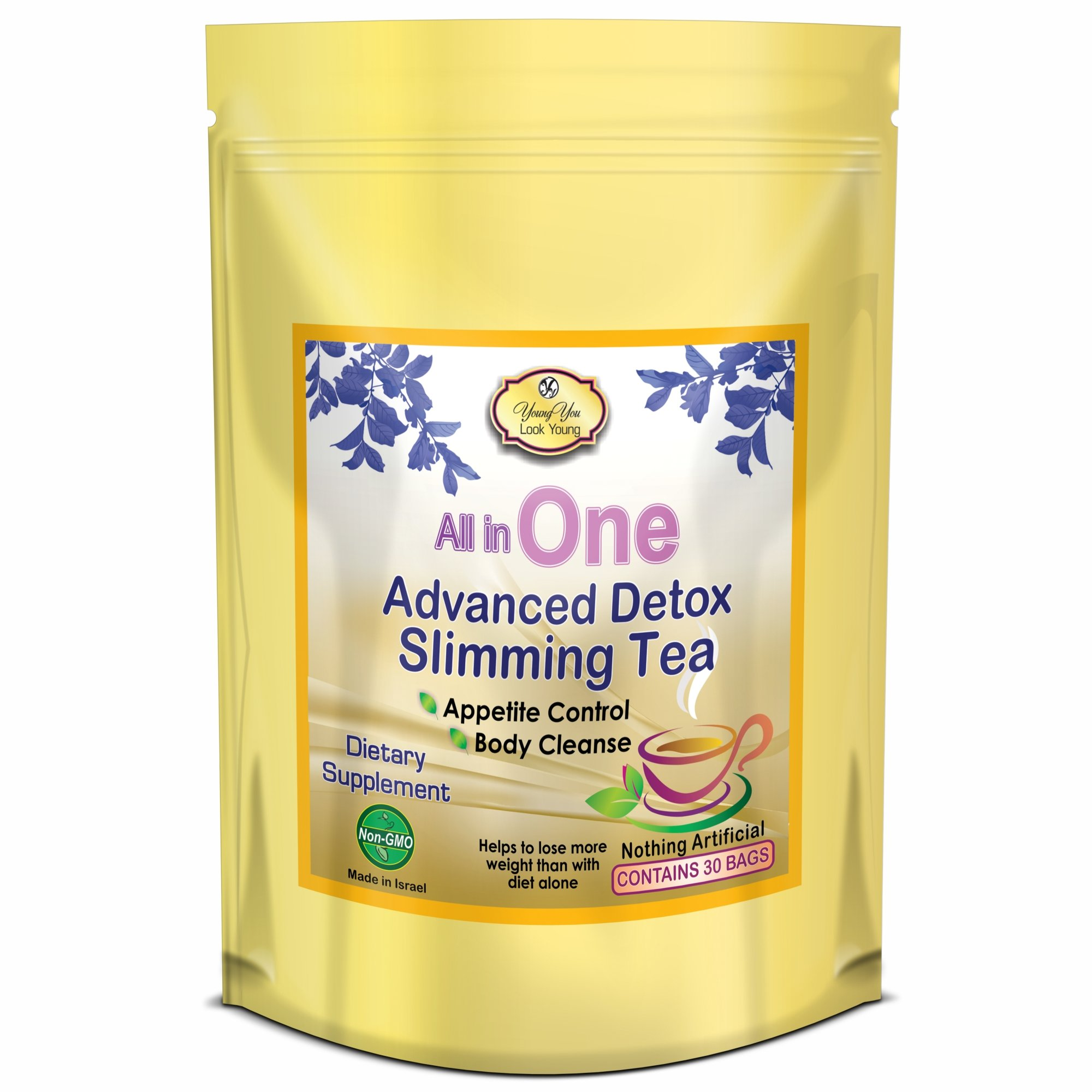 All in One Detox Tea. Appetite Control Diet Tea for Weight Loss, Detox, Cleanse, Energy. 3 Packs