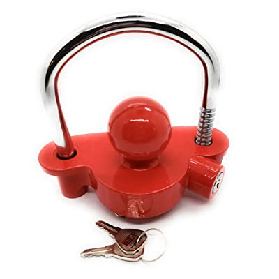 Buddy Systems Trailer Coupler Lock, Red: Automotive