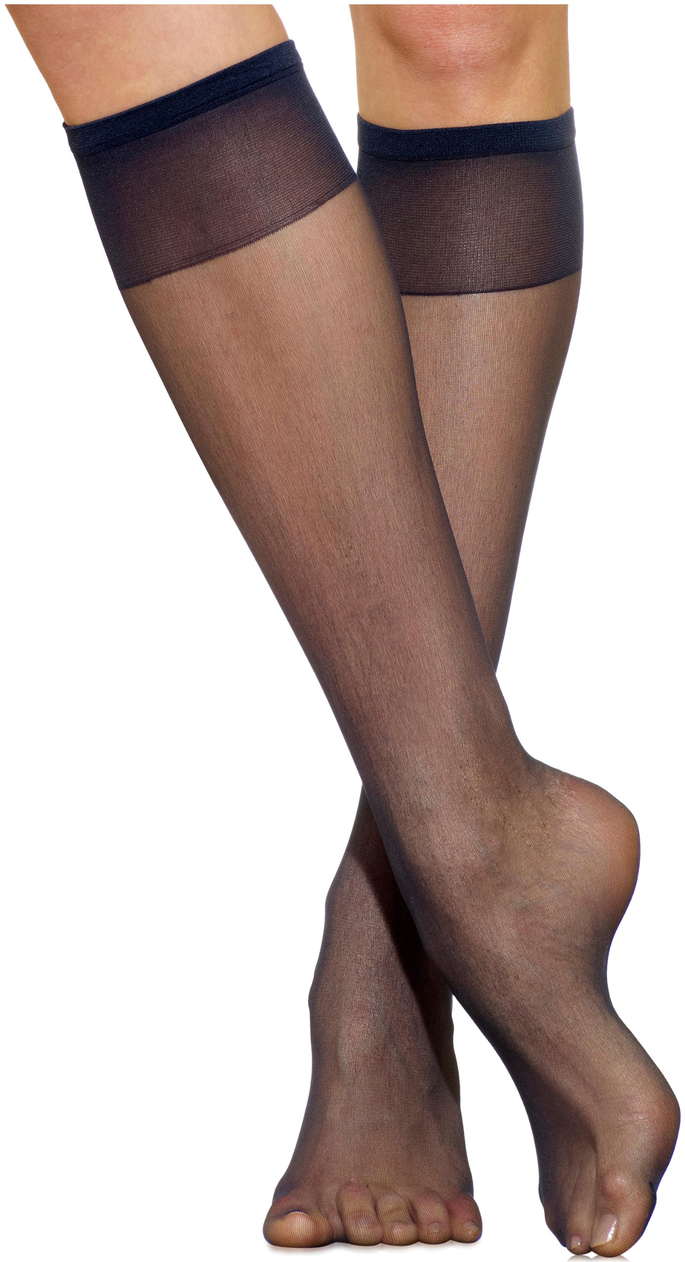 cf46e9878 Silkies Women s Ultra Knee Highs with Energizing Support 3 Pair Pack  -Regular Navy Blue