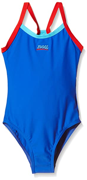Zoggs Girl's Kerrawa Strike Back Swim Suit: Amazon.co.uk