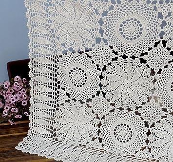 Kamay s New hecha a mano hecho a mano Crochet de algodón de encaje mantel